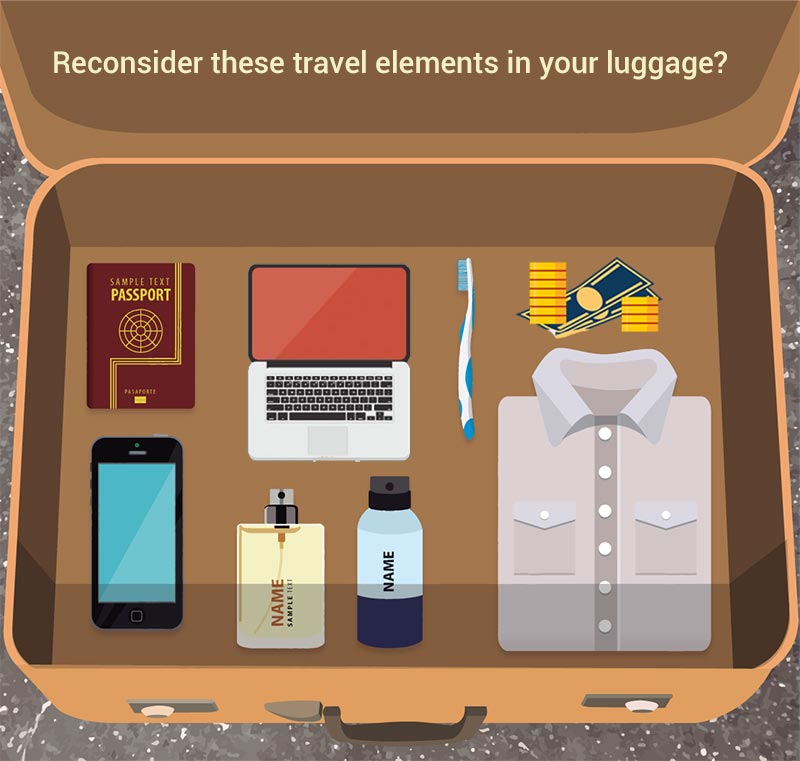 Avoid these prohibited things in your luggage.